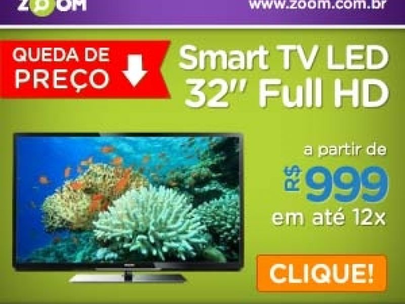 "Oportunidade: Smart TV LED 32"" a partir de R$999"